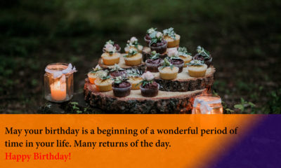 Happy Birthday Quotes Image with Cake
