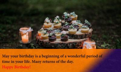 Happy Birthday Quotes Image with Cake